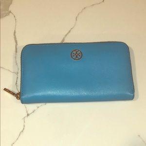 Tory Burch wallet, blue